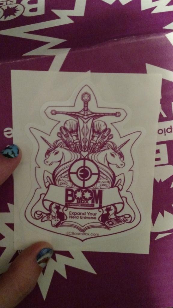 EC Boom Box Crest Sticker